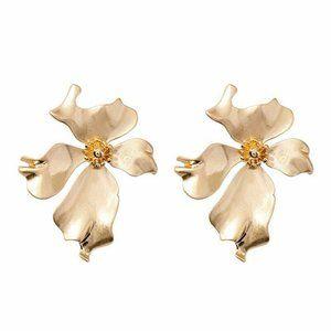 New! Large Flower Earrings